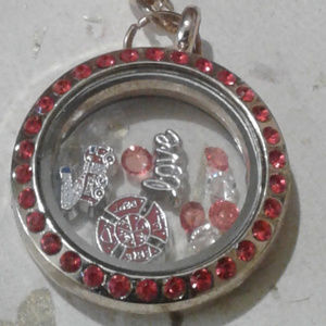 "Jewelry - NEW ""Fireman"" Memory Locket Necklace"